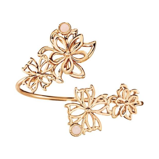 floral open cuff bracelet