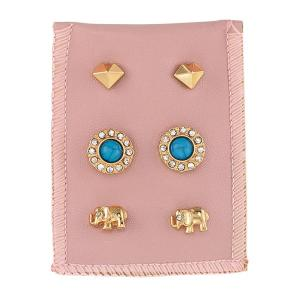 Good fortune Stud Earring Trio